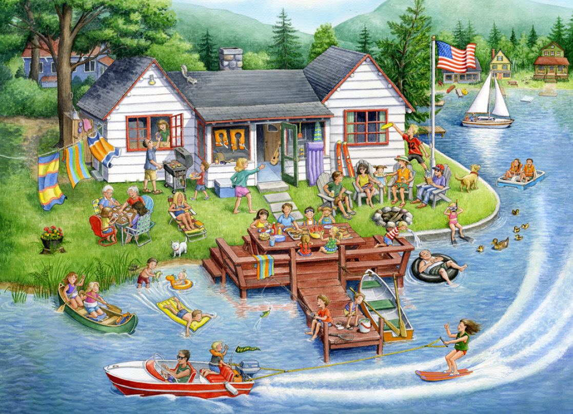 Berlin Puzzle Lake House Jigsaw Puzzle Rose Mary Berlin Vermont Christmas