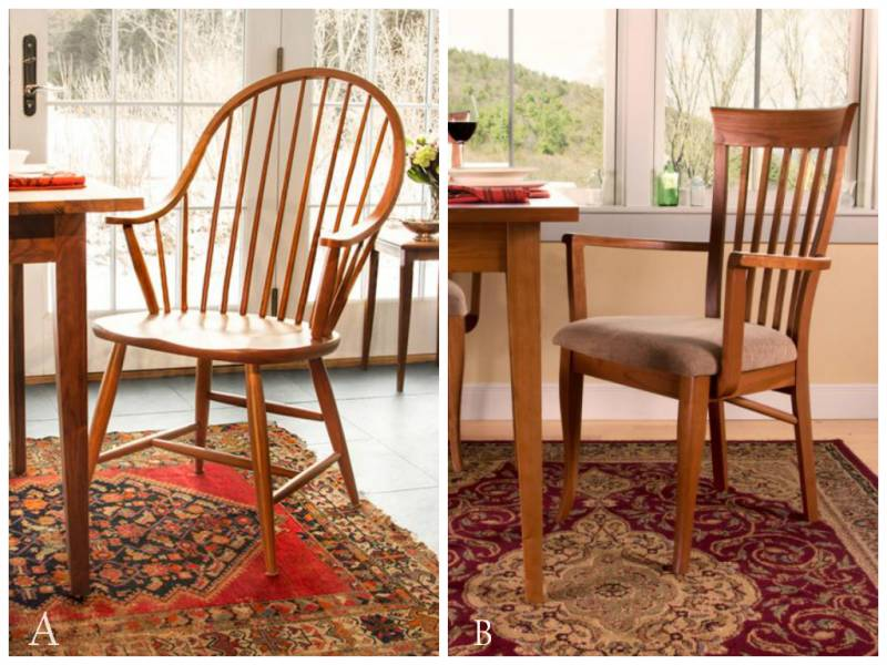 Windsor Vs Shaker Style Chairs Take Your Pick Vermont
