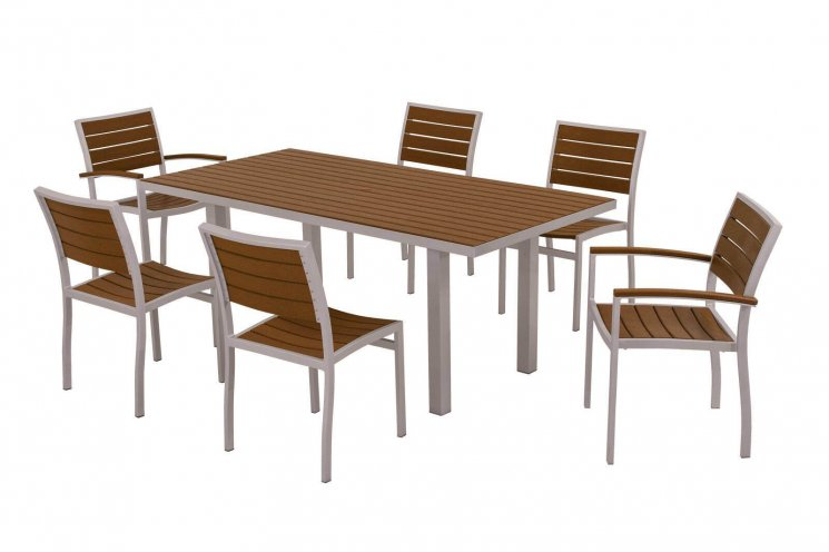 Polywood Modern 7 Piece Dining Set Luxury Outdoor Furniture