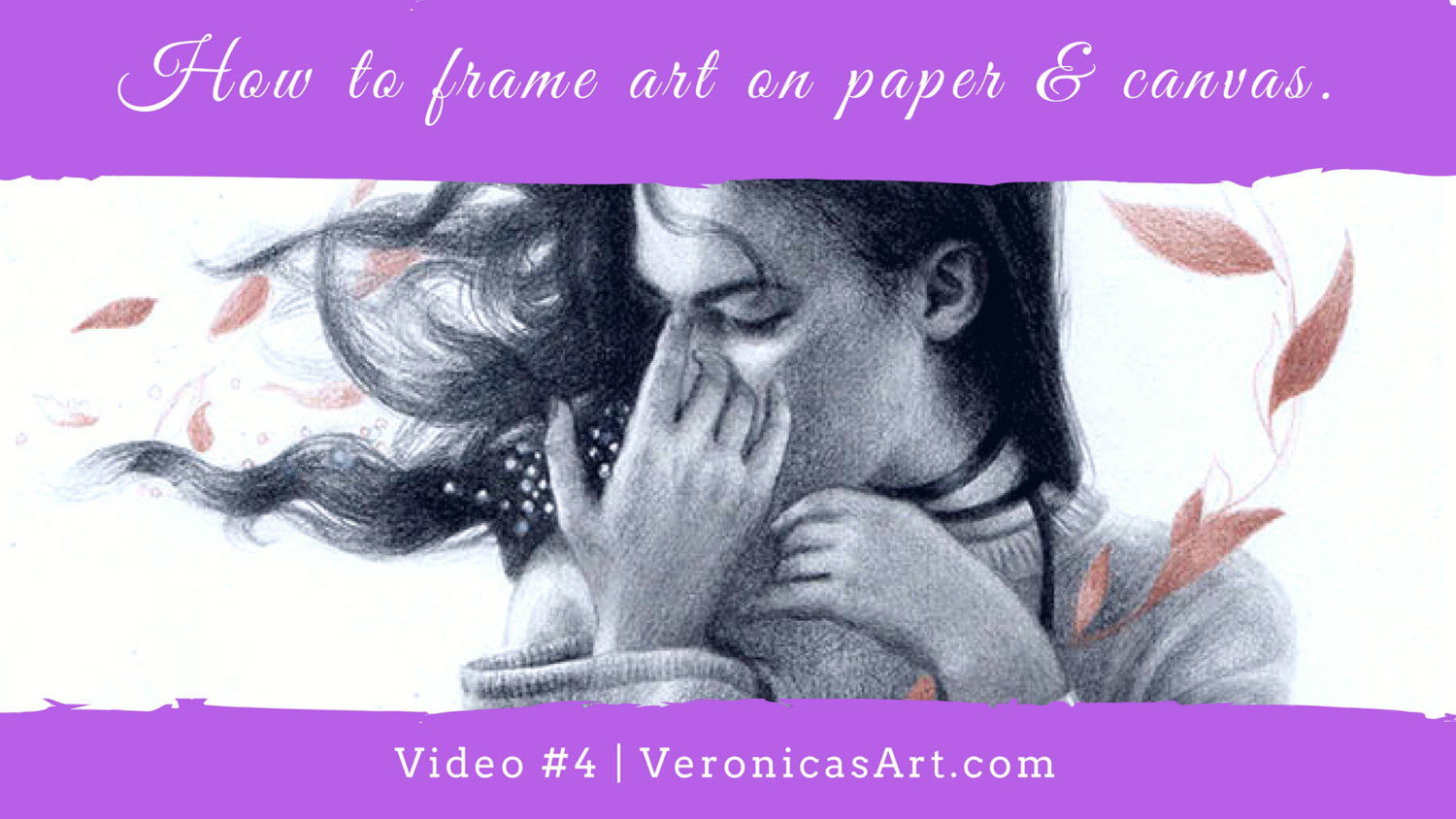 How To Frame Pictures How To Frame Art On Paper And On Canvas Veronica Winters