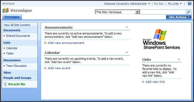 SharePoint 2007 vs 2010 for End Users  The Default Landing Page