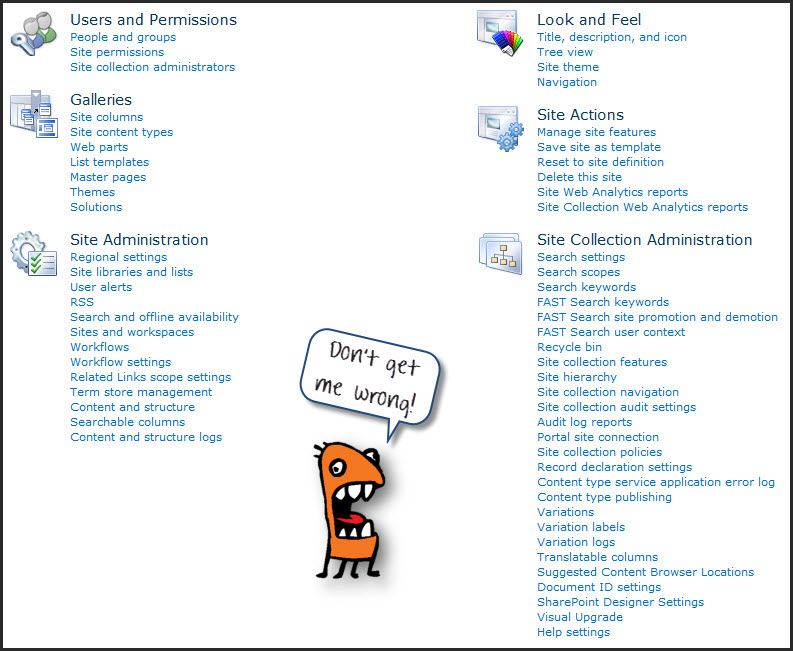 Tasks for SharePoint Team Site Collection Administrators \u2013 Views