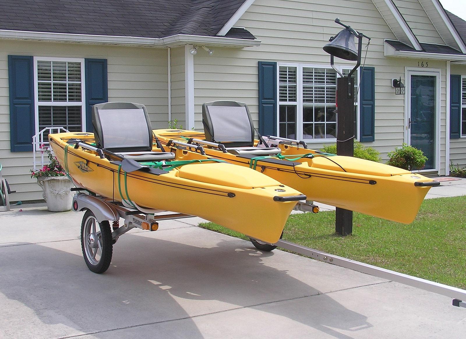 Hobi Pro Angler Kayaks W Yakima Trailer Vero Vine