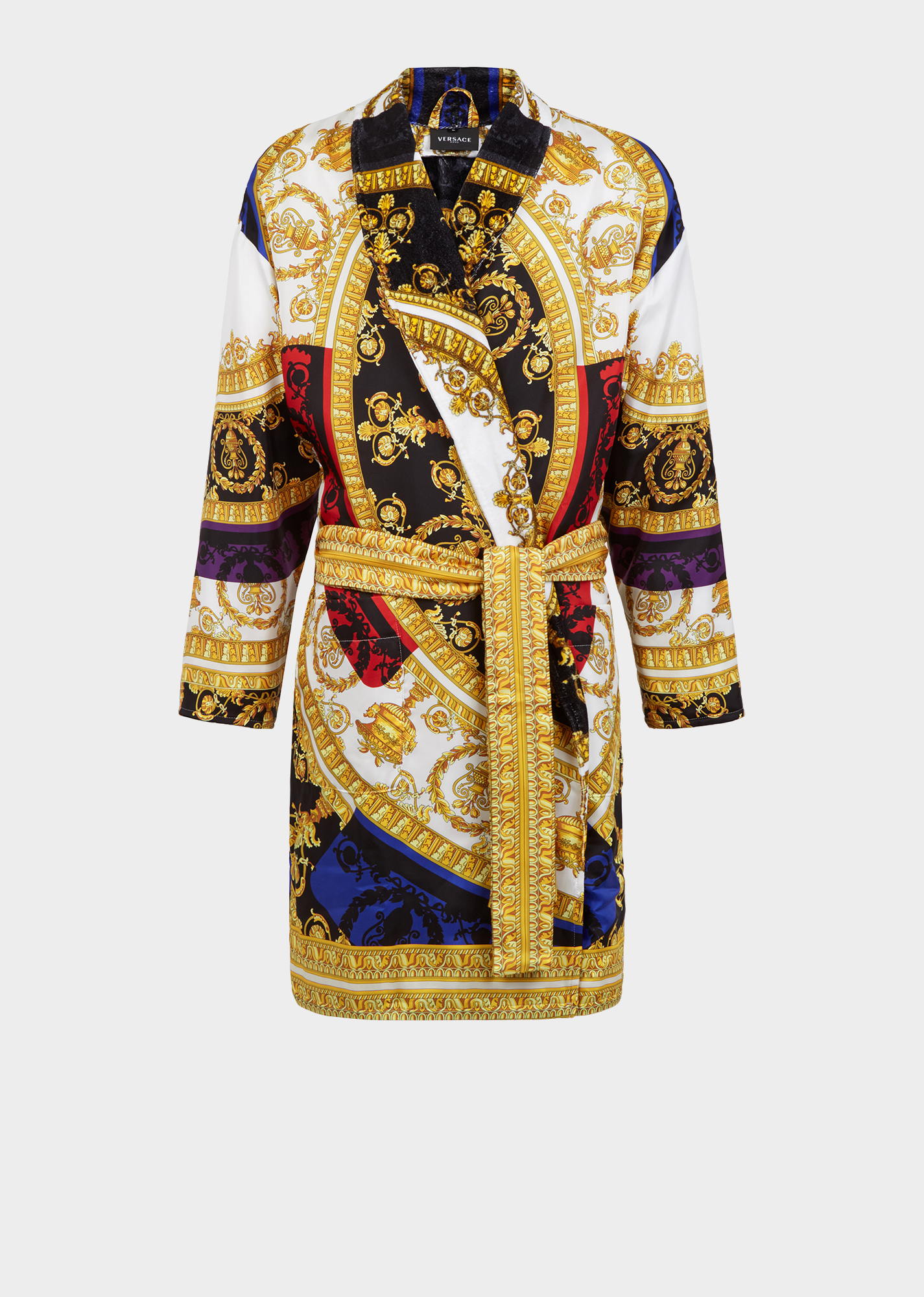 Robe De Chambre Japonaise Versace Silk I ♡ Baroque Bathrobe For Women | Official Website