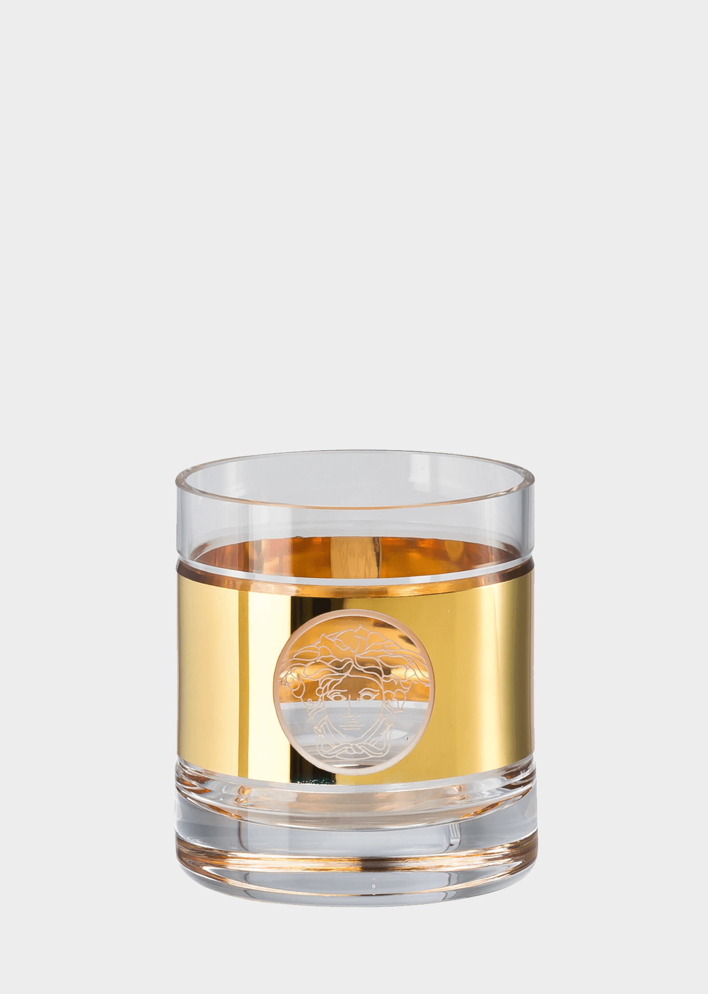 Verre De Whisky Versace Verre à Whisky Gold Medusa Madness Home Collection Boutique En Ligne France