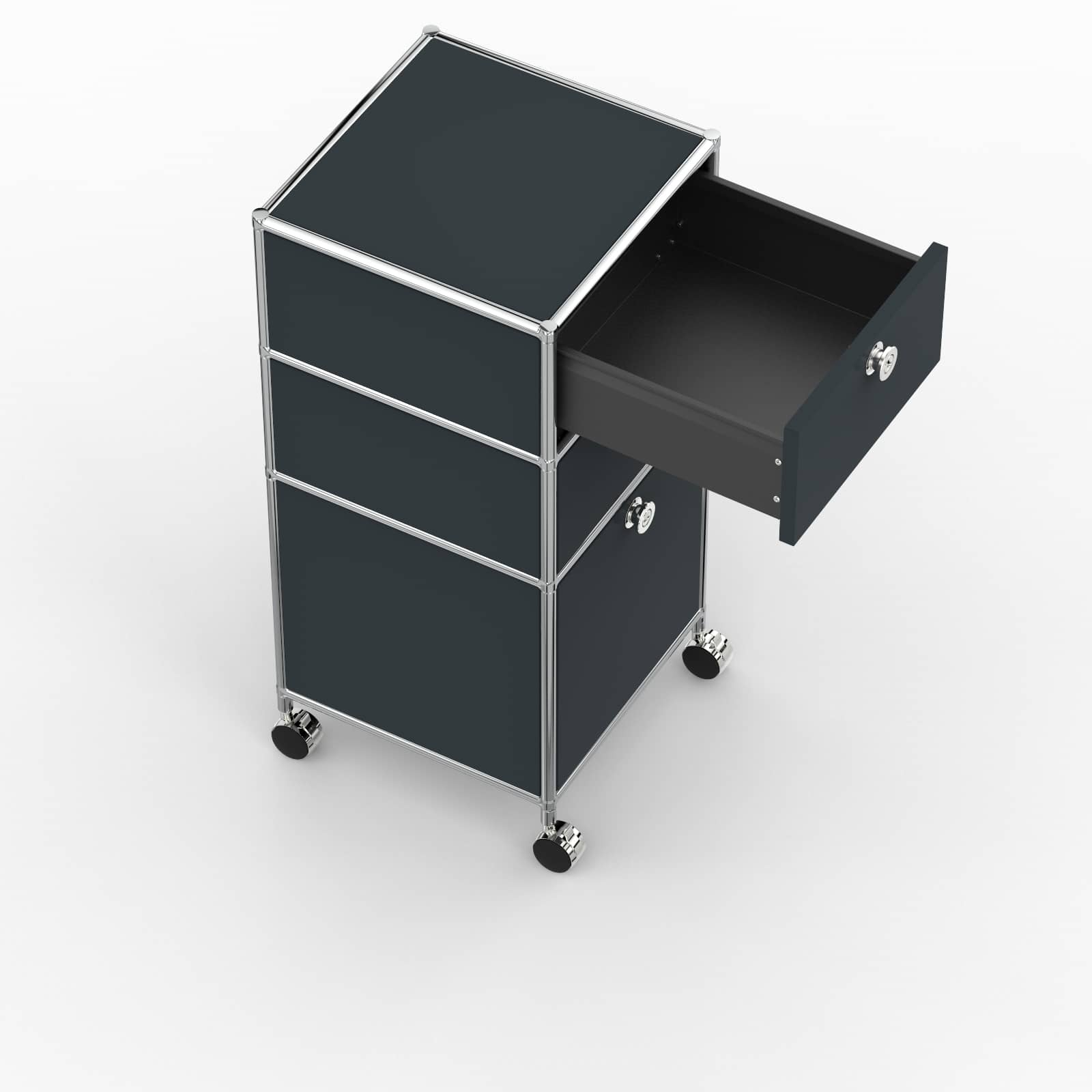 Rollcontainer Design Rollcontainer 40cm 2xes 1xhg Awr Anthrazitgrau Ral