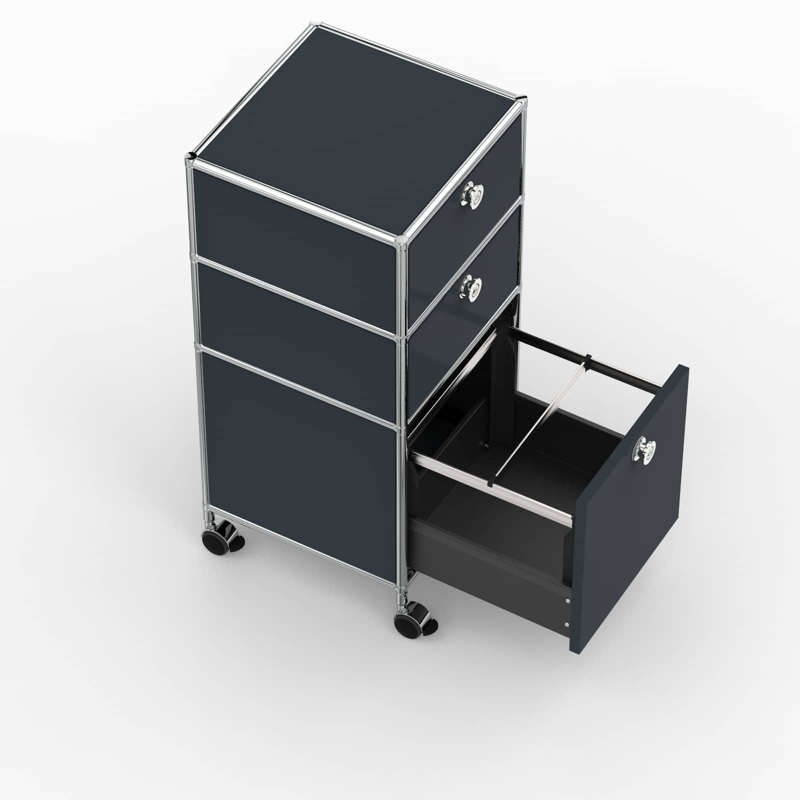 Rollcontainer Design Rollcontainer 40cm 2xes 1xhg Ahr Anthrazitgrau Ral