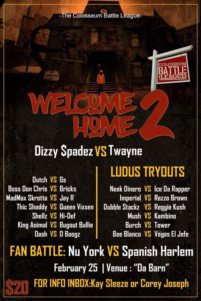 Welcome Home 2 - The Colosseum Battle League Battle Rap Event