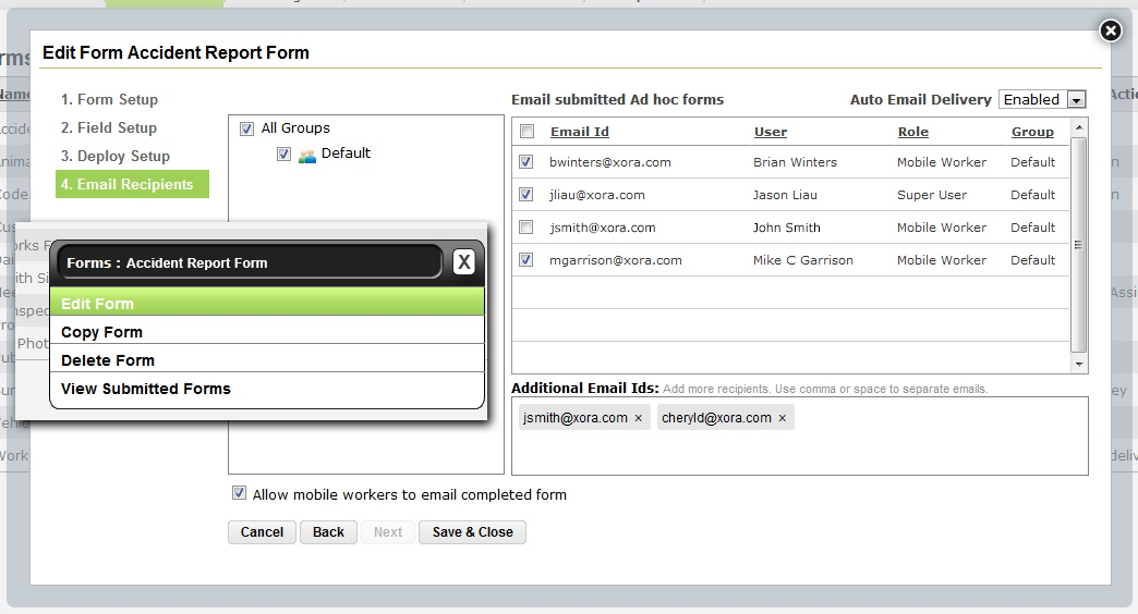 Xora Enhances StreetSmart Mobile Forms And Mileage Manager - key release form