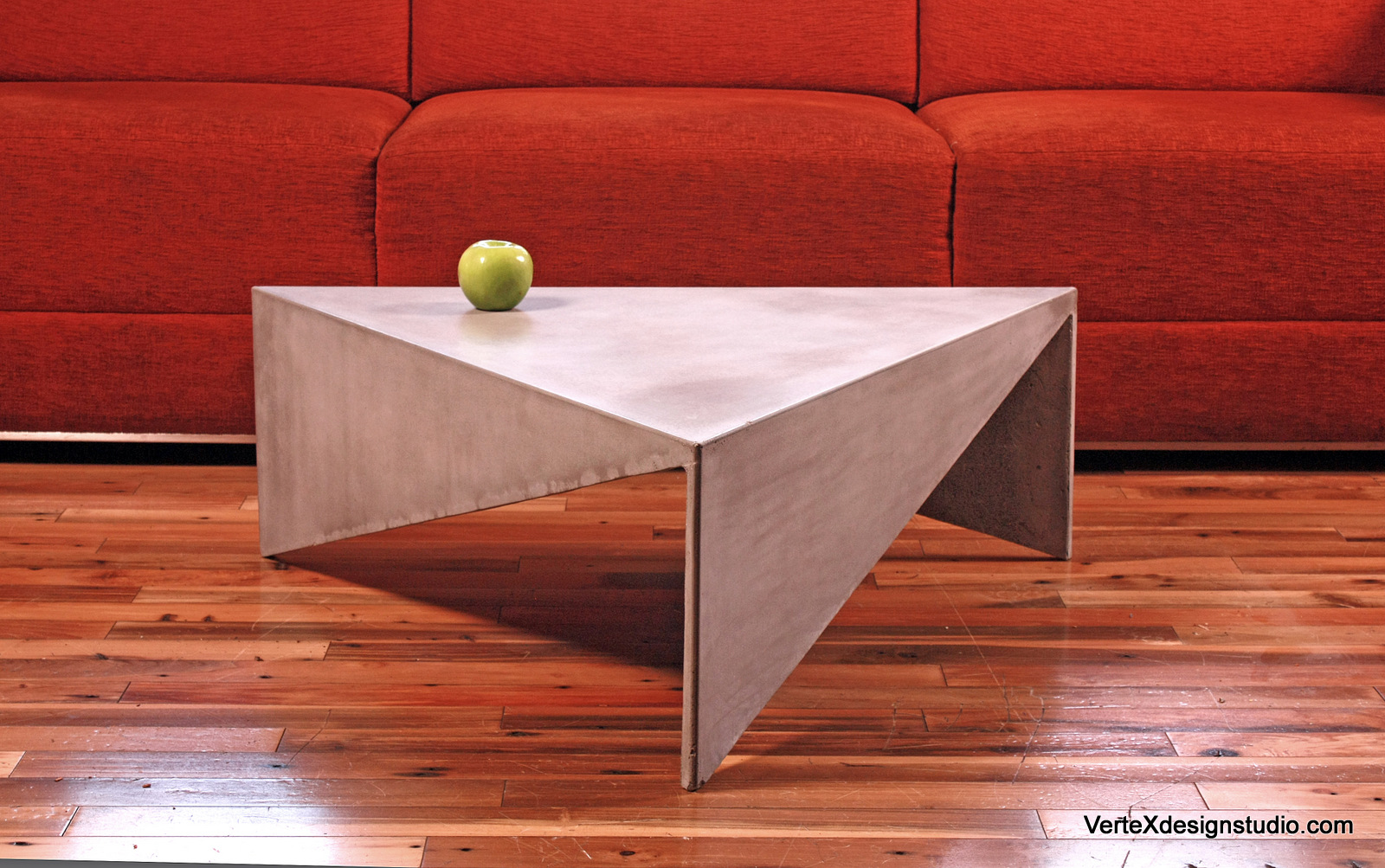 Triangular Table Plans Concrete Triangle Coffee Table
