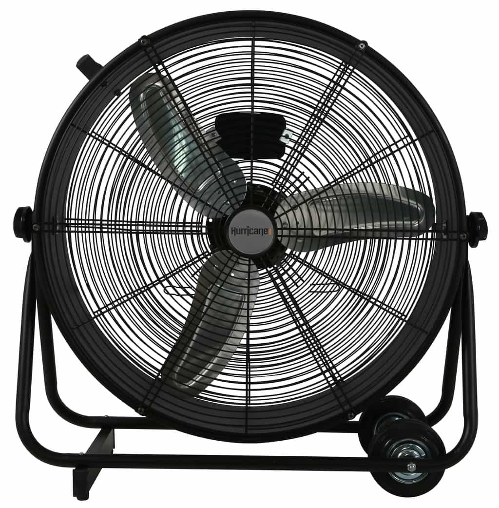 Garage Workshop Fan Hurricane Pro High Velocity Metal Drum Fan 24 In