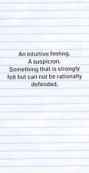Intuitive feeling