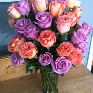 Three Dozen Roses Tall