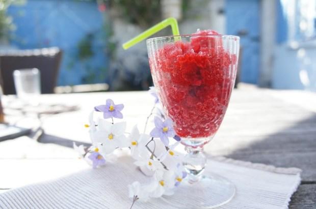 recette granité aux fruits - granita framboise