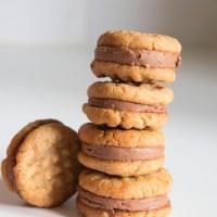 Biscuits Beurre de Cacahuète et Ganache Chocolat
