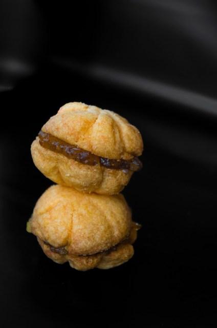 Biscuit halloween citrouille au gingembre - confit de gingembre
