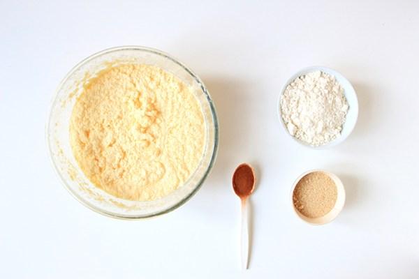 préparation Cake cannelle
