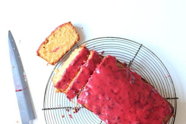 cake coco à la mûre