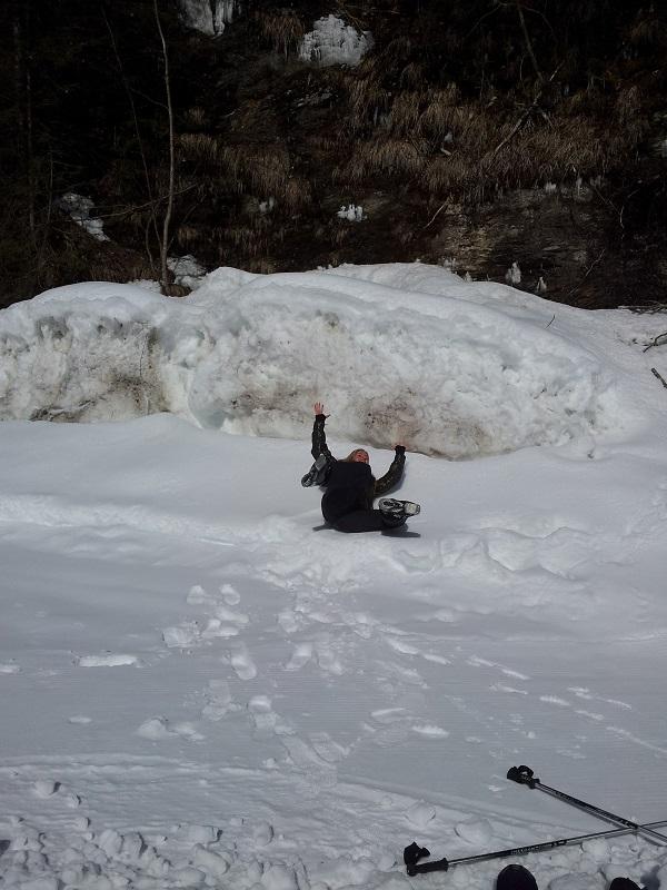 Lol in de sneeuw blijft leuk