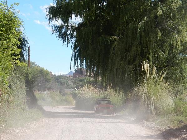 In de auto... op weg naar de Serranía de Hornocal