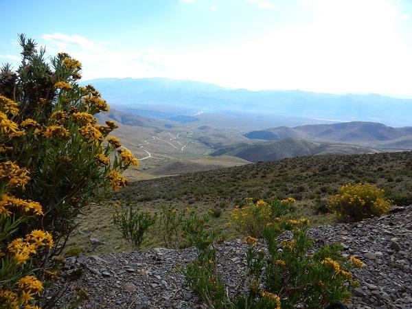 Uitzicht op de vallei tijdens de stop onderweg naar de Serranía de Hornocal...