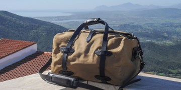 filson duffle tan small test avis