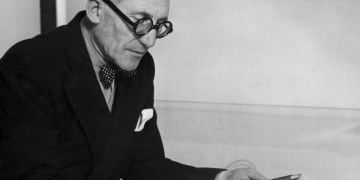 Photo lunettes rondes Le Corbusier