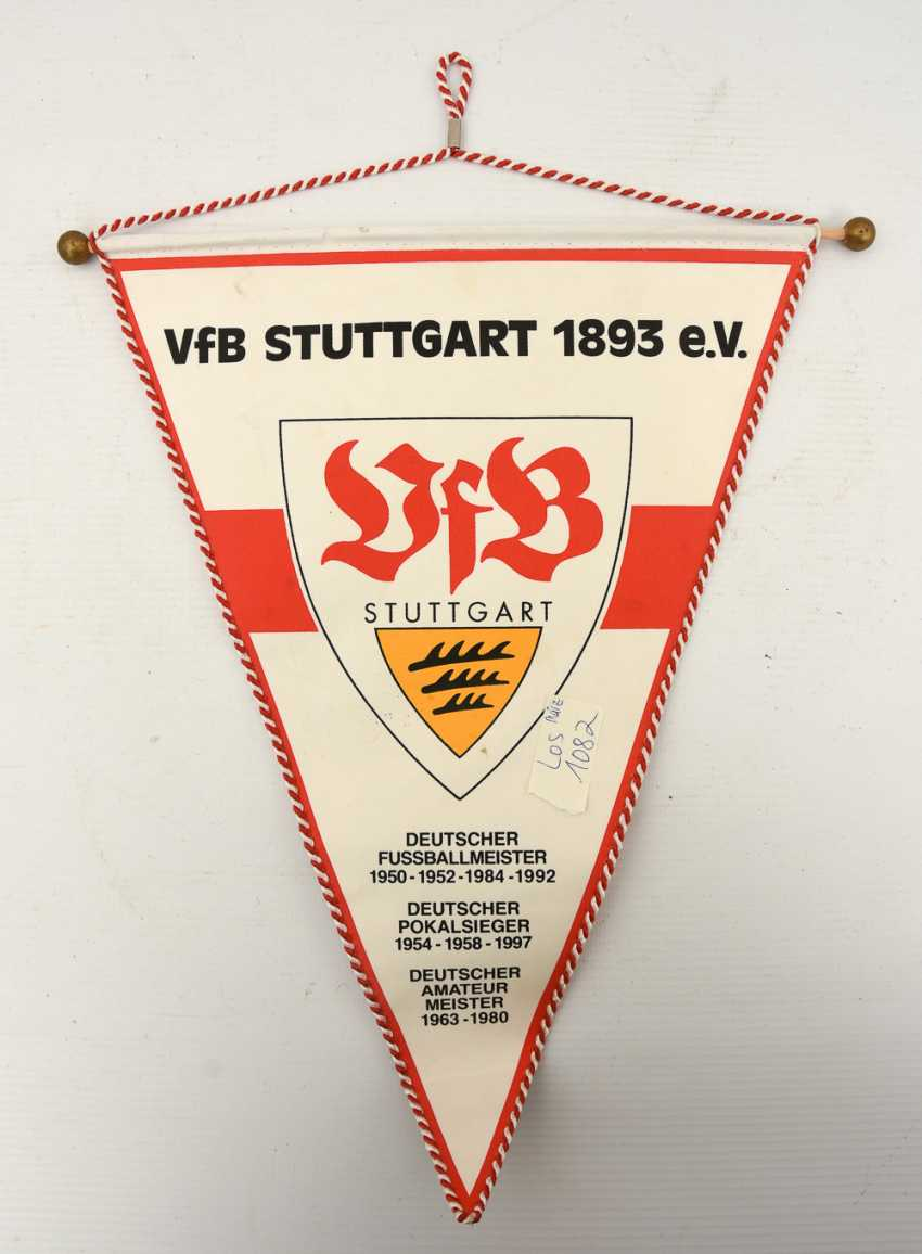 Black Friday Stuttgart Lot 1082 Vfb Pennant 2 With Signatures 1990s From The Catalog