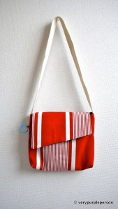Red stripes bags