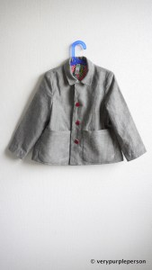 Linen and foxes jacket