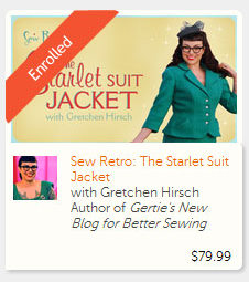 The Starlet Suit Jacket. Enrolled!