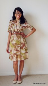 Splotches jersey dress (Vogue 1285)