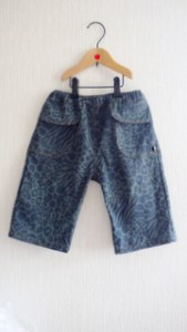 Denim knee-length pants