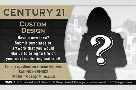 Century 21 Themed Real Estate Business Cards Custom Design or