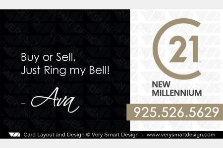 Century 21 Real Estate Business Cards with New C21 Logo Agents 11A