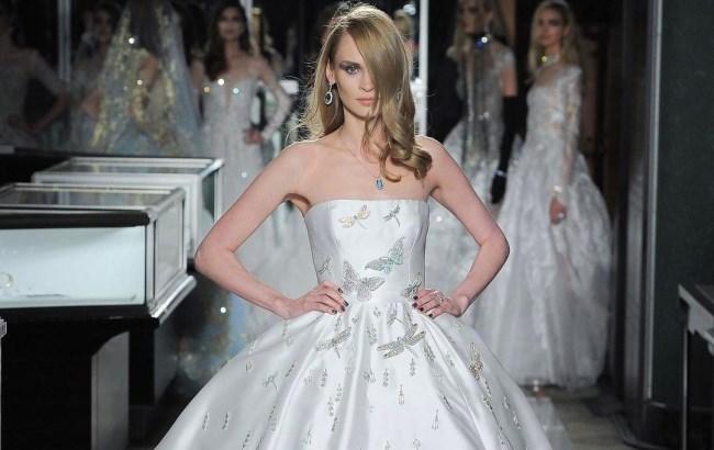 Американский дизайнер ливанского происхождения Рим Акра создала свадебное  платье стоимостью 2 a0f962d9bc731