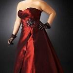 vestidos de fiesta para gorditas color rojo (2)