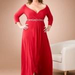 vestidos de fiesta para gorditas color rojo (8)
