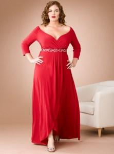 vestidos de fiesta para gorditas rojos (6)