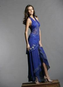 Vestidos de fiesta para gorditas color azul (3)