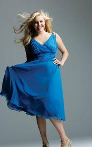 Vestidos de fiesta para gorditas color azul (4)