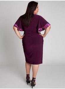 vestidos de fiesta para gorditas con mangas (5)