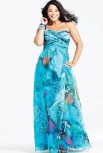 15 opciones de hermosos vestidos de fiesta para gorditas estampados (12)