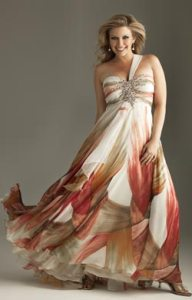 15 opciones de hermosos vestidos de fiesta para gorditas estampados (5)