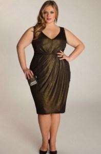 15 opciones de vestidos de fiesta para gorditas cortos para Navidad (4)