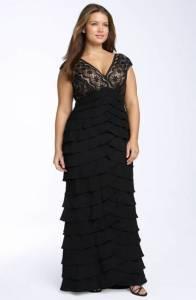 12 Vestidos de fiesta negros para mujeres gorditas (10)
