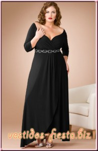 12 Vestidos de fiesta negros para mujeres gorditas (4)