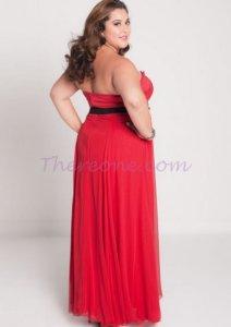 11 Bellos vestidos de fiesta para gorditas rojos (11)