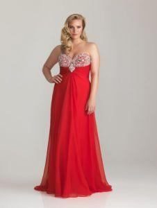 11 Bellos vestidos de fiesta para gorditas rojos (5)