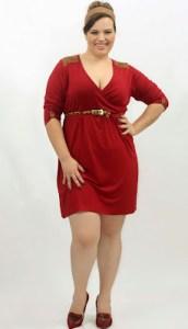 11 Bellos vestidos de fiesta para gorditas rojos (7)